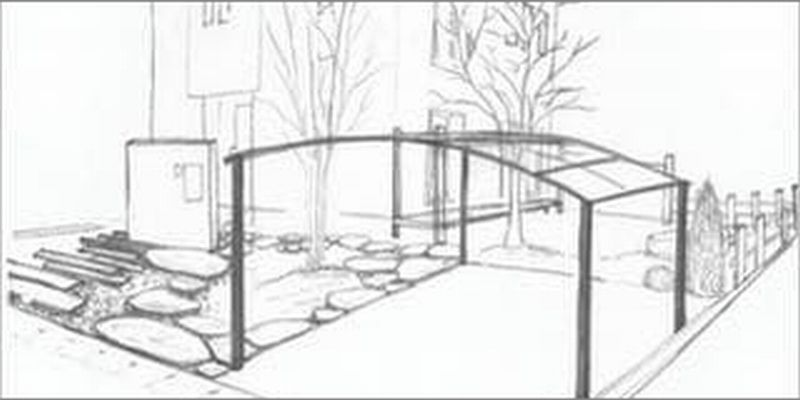 Sketch of Landscaping and Garden Design
